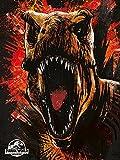 Jurassic World - Impresión sobre Lienzo, diseño de Fallen Kingdom T-Rex, Multicolor, 60 x 80 cm