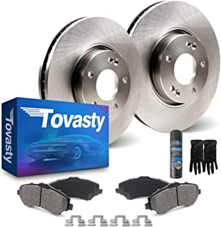 OE Series Rotors + Ceramic Pads Fits: 2007 07 2008 08 2009 09 2010 10 2011 11 Mazda CX-9 Max Brakes Front /& Rear Premium Brake Kit KT043343