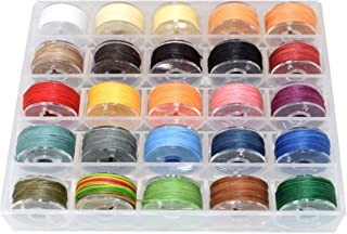 25 Colors Sewing Waxed Thread - Leather Stitching Round Thread - Leather Sewing Projects and Other DIY Projects