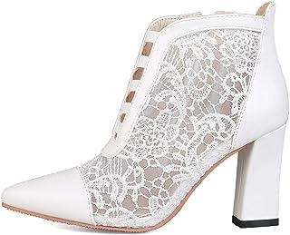 RAZAMAZA Women Fashion Autumn Block Heels Booties Zipper