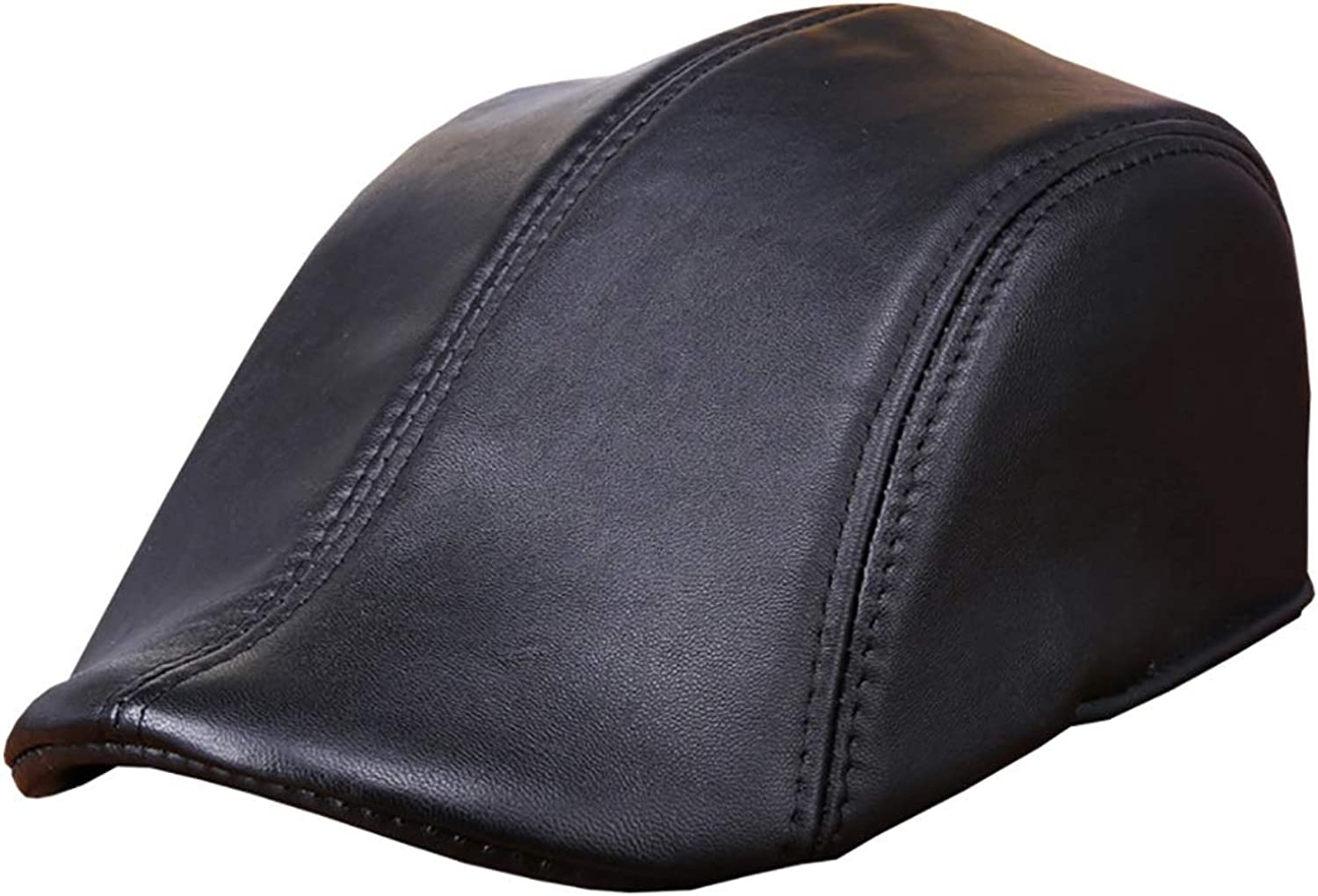 Beret Men and Women Leather Hat Sheep Skin Fashion Hat Cap Solid color Wild Classic, Exquisite Perfect Version, Fashion, Grace and Temperature.