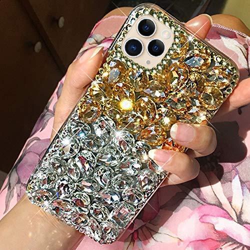 Uposao Kompatibel mit iPhone 11 Pro Handyhülle Glänzend Glitzer Kristall Strass Diamant...