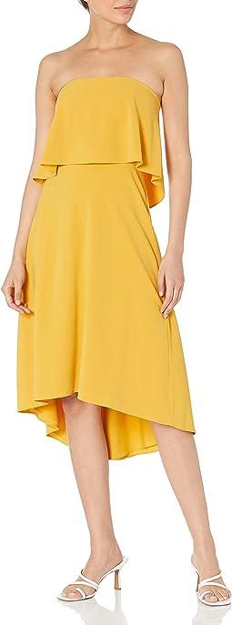 Strapless Hi-lo Flounce Dress