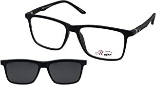 نظارة طبية باطار كامل بلون ازرق مطفي C:5 من رترو- رقم الموديل: 4018، (اس او) (مشبك)