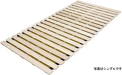 ヒラカワ(HIRAKAWA) 桐のロールベッド 天然木 セミダブル 湿気対策 QT-302