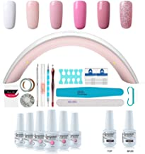 Gel Nail Polish Starter Kit – 6 Colors Gel Polish Set Base Top Coat, 36W LED Nail..