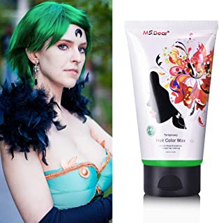 Fun Temporary Hair Color Wax for Cosplay Hair Dye Wax Hair Styling&Coloring Hair Wax for Halloween- Wash Off Easily - Fast Coloring on - Zero Damage to Hair (GREEN)