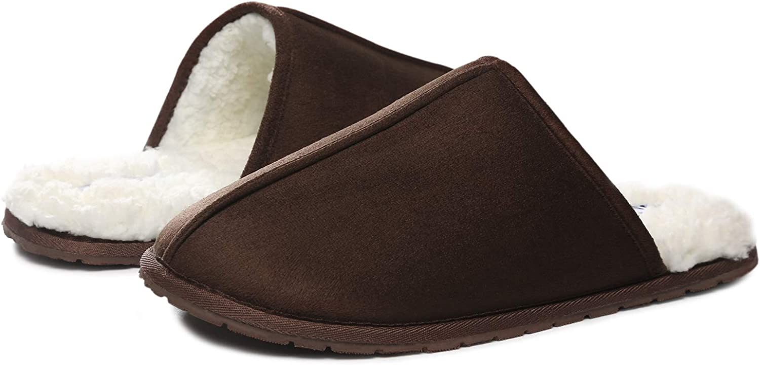 O Popular standard MINE Men's Scuff Slippers Microsuede Indo New mail order Lined Comfort Fleece
