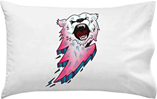 Hat Shark Bear Bolt Lightning Animal Cartoon Logo - Pillow Case Single Pillowcase