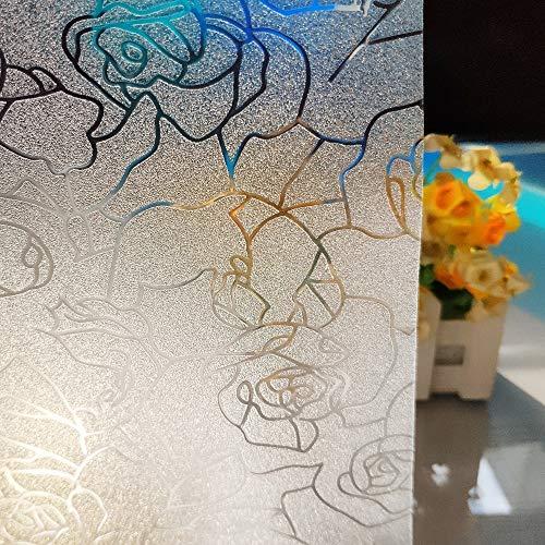 LMKJ Película estática para Ventanas de Mantenimiento Fresco, PVC Abstracto, Rosa, Pegatina de Vidrio Impermeable, Utilizada para películas para Puertas y Ventanas A26 50x100cm