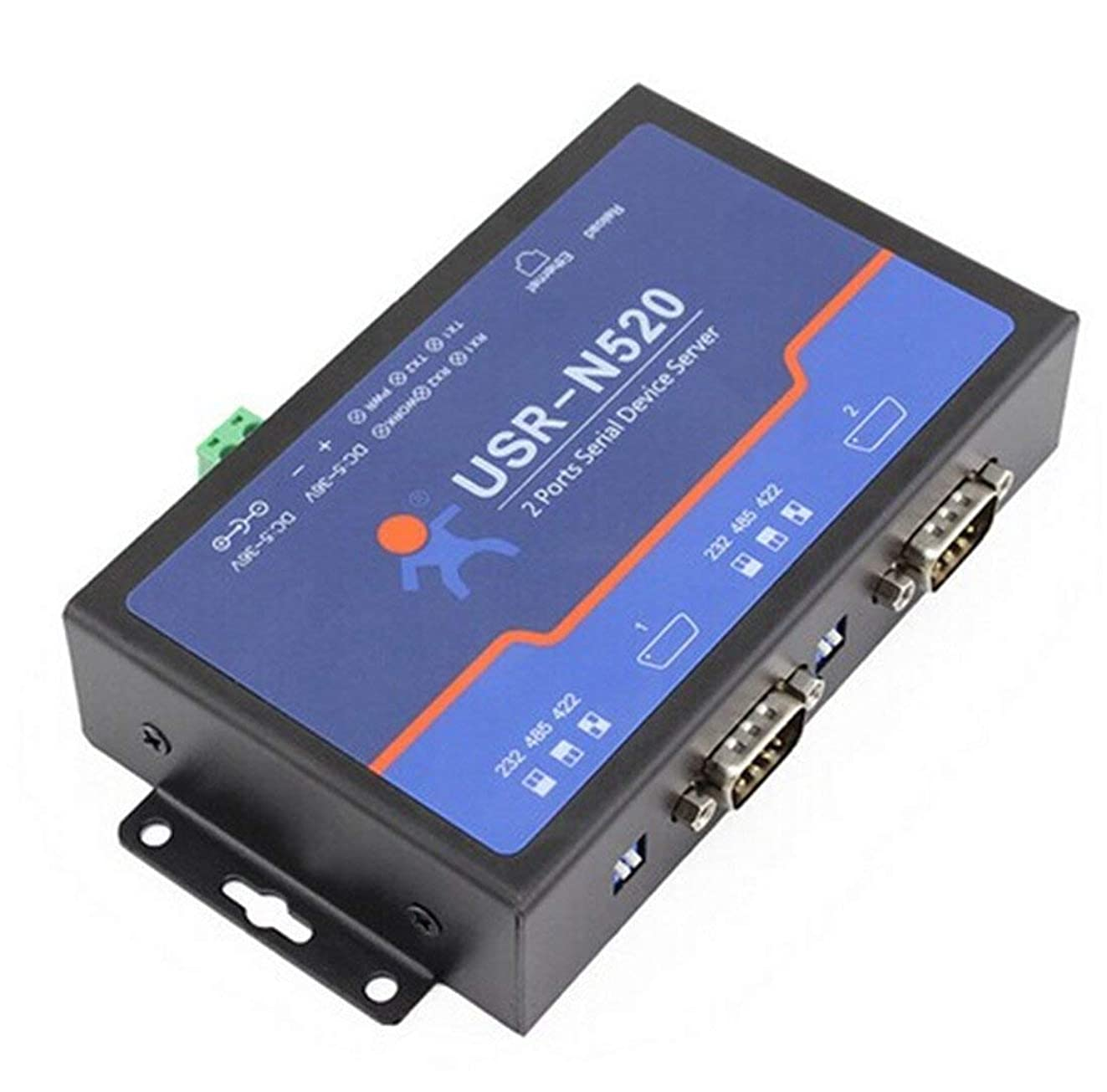 ?USR-N520 Double Serial Device RS232 RS485 RS422 Ethernet Server Modbus Multi-Host Polling