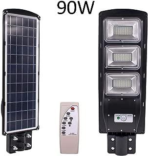 SZYOUMY Outdoor Solar Street Light,180LED Solar Light PIR Motion Sensor Remote Control Wall Lamp Solar Street Lights with Radar Sensor,Waterproof IP67 Dusk to Dawn Outdoor Street Area Road (90 watts)