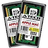 A-Tech for Apple 4GB Kit (2X 2GB) DDR3 1067MHz / 1066MHz PC3-8500 SODIMM Memory RAM Upgrade for MacBook, MacBook Pro, iMac, Mac Mini - (Late 2008, Early 2009, Mid 2009, Late 2009, Mid 2010) Models