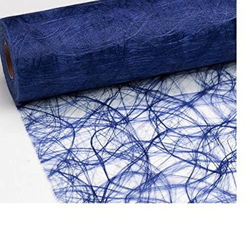 Unbekannt 100 Deko Diamanten + 25 m x 20 cm Sizoweb® Vlies Tischband dunkelblau Tischläufer blau für Hochzeit, Weihnachten