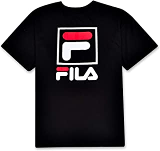 Fila Men's Big and Tall Short Sleeve T Shirt with Stacked Logo