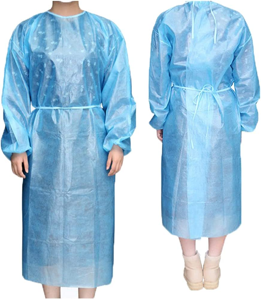 10 Pack Isolation National uniform free shipping Gowns Disposable Blue Lab Waterproof Max 67% OFF wit