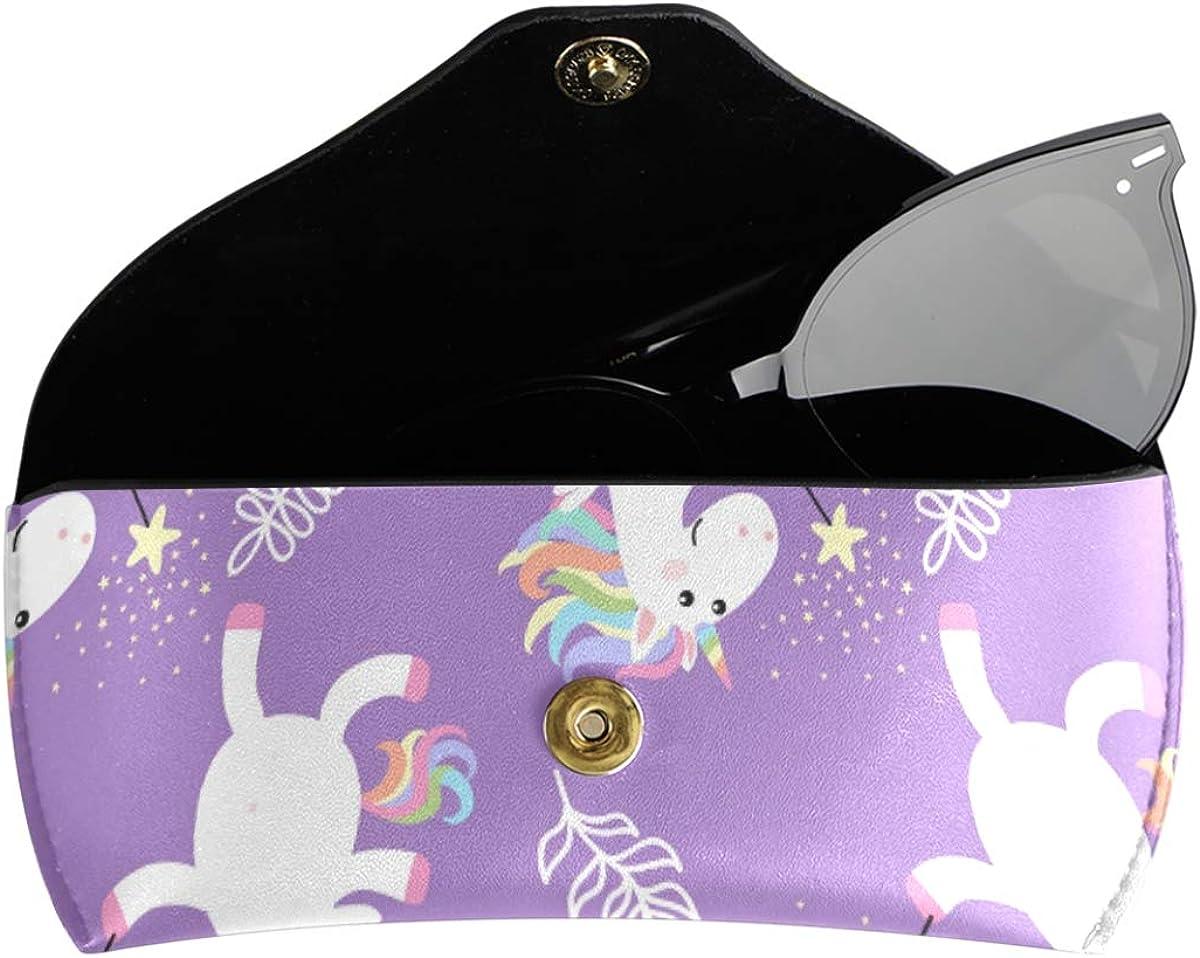 Goggles Bag Portable gift PU Leather Multiuse Cute Unicorn White Sunglasses Case Eyeglasses Pouch