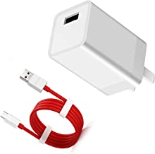 Dash Charger for OnePlus 6, Super Fast Charge Wall Charger 5V 4A Adapter with 3.3FT USB-C Dash Charging Cable Charging Rapidly Adapter for OnePlus 6T 5T 5 3T 3