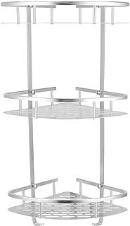 3 nivåer hörnduschkudde, duscharrangör, väggmonterad duschhylla i aluminium, badkarförvaringsorgan för toalett, schampo, s...