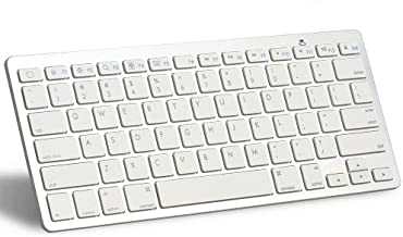 Bluetooth Keyboard for Apple- Ultra-Slim Keyboard for ipad Air, iPad Pro, iPad Mini 4/3/2/1,iPad 4/3/ 2,iPhone 6/6S, iPhone 6 Plus and Other Bluetooth Enabled Devices