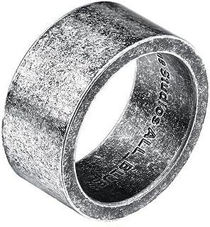 PAMTIER للرجال والنساء الفولاذ المقاوم للصدأ الشمال السويدي الحد الأدنى مطابقة خاتم فضي أسود