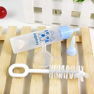 XuBa - Botella pequeña para hámster, Conejo, Fuente para Beber, 30 ml, alimento para Mascotas, Cepillo para Polvo y Sumini...