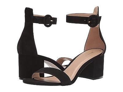 Massimo Matteo Strappy Block Heel (Black Nubuck) Women
