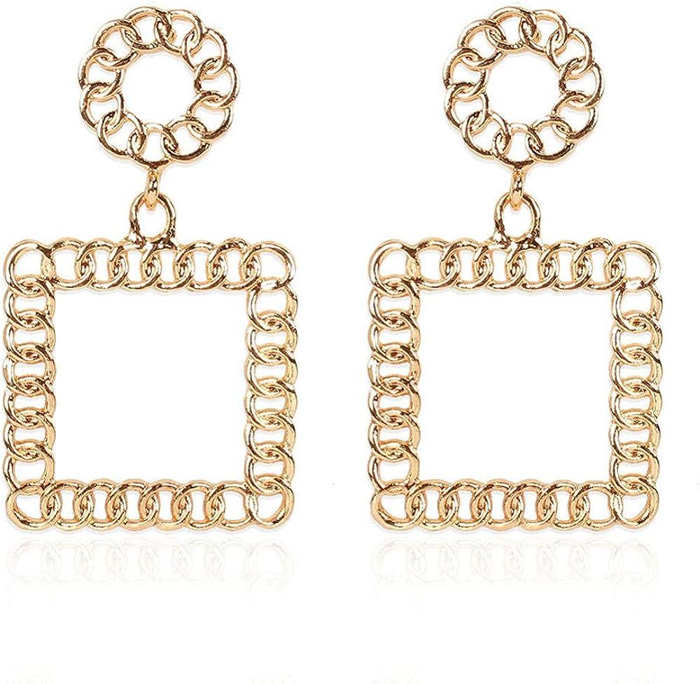 Cuff Earringsoil Alloy Geometric Long Earrings