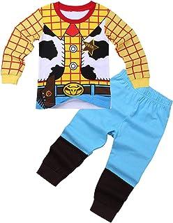 9b4b45e11a951 iiniim Vêtements de Nuit Enfant Bébé Garçon Fille Déguisement Police Buzze  Lightyeare Costume Halloween Dessin Animé