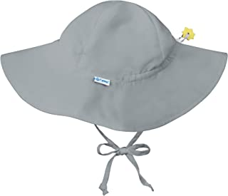 Baby Solid Brim Sun Protection Hat, Gray, 0-6 Months