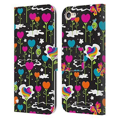 Head Case Designs Officially Licensed Trolls World Tour Flower Hearts Pattern Rainbow BFFs Leather Book Wallet Case Cover Compatible with Apple Touch 6th Gen/Touch 7th Gen