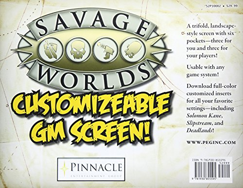 Savage Worlds Customizable GM Screen (S2P10002)