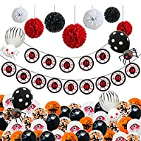 カラフルなハロウィーンパーティー装飾、パーティー用品、バルーンバナー、コウモリ、目、クモ、ハッピーカーニバルホリデーバーのため、ホームデコレーション