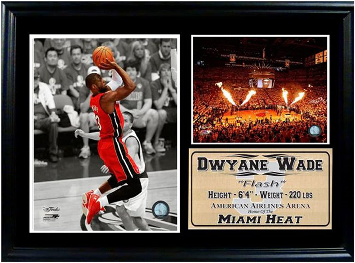 b25ad3c5 Encore Select NBA Miami Heat Framed Dwayne Wade Photo and Dolphin Stadium  Print, 12Inch by 18Inch 12710 nxkcux6042-Sporting goods