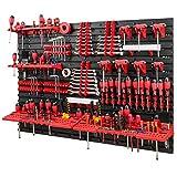 Pared de herramientas de 1152 x 780 mm, juego de soportes para herramientas con pared perforada, sistema de almacenamiento, estantería de pared, estantería de taller