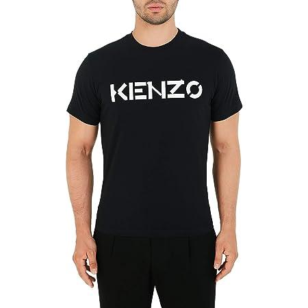 Kenzo Men's Tshirt Black Logo White Shirt 100% Cotton (Adjusted Size) (L)