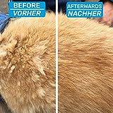 Bluepet Hundebürste / Unterfellbürste – Antiallergisch, befreie deinen Liebling von Unterwolle – Innovatives Design – Entfilzen und Trimmen zugleich für optimale Fellpflege - 4