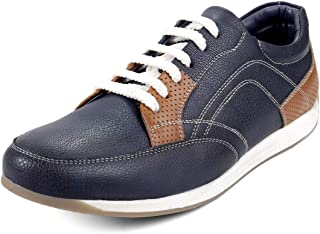 Bacca Bucci® Men's PU Leather Casual Sneakers for Men-Blue