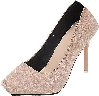 Woman Super High Heels Pumps Nude 10cm Thin Heels Wedding Shoes Large Size 48 Classic Pumps