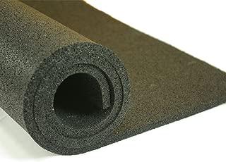 Greatmats Plyometric Rubber Roll 8 mm 4x10 ft Black