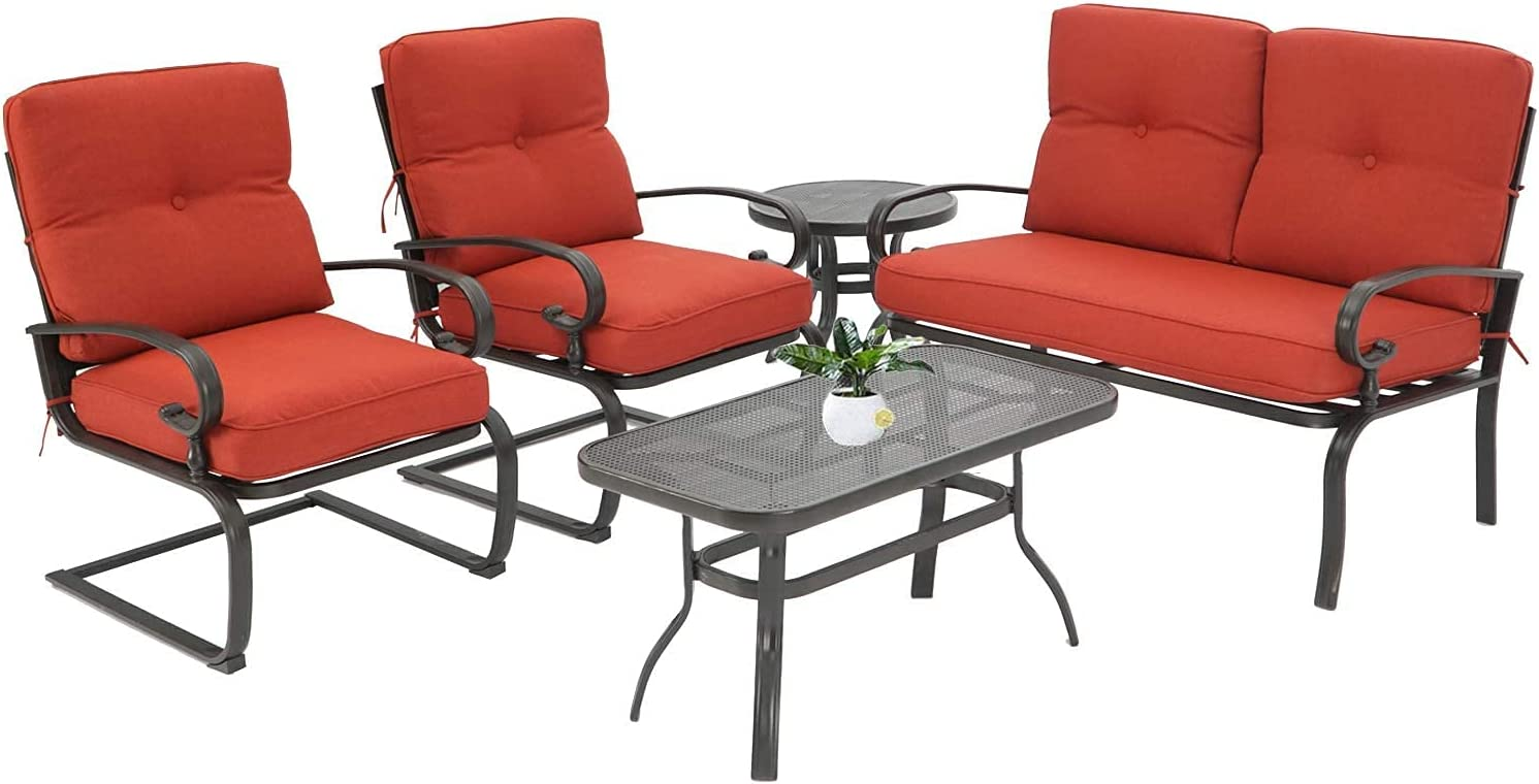 Oakmont 5Pcs Outdoor Ranking TOP7 Patio Free shipping on posting reviews Furniture Sets Conversation Loveseat