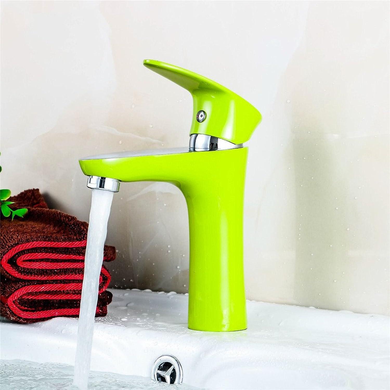 GQLB Copper paint faucet shower ware faucet antioxidant environmental predection single hole basin faucet