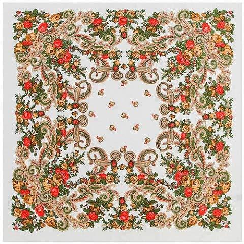 AHUIOPL Imitado Seda Pañuelo de Seda Pañuelo de Seda de Las Mujeres Bufandas cuadradas Wraps Ruso Retro anacardo pañuelo para el Cuello de Seda Femenina Hijab señora