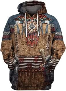 Iuhan Men Autumn Winter Long Sleeve Sweatshirt Coat Hoodie Blouse 3D Printed Vintage Ethnic Style Sweater Jacket Regular and Big Sizes Oversized