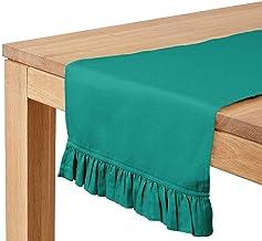 Vargottam Sea Green Home Décor Kitchen Table Decor Home Frill Table Runner-14 x 90 Inch