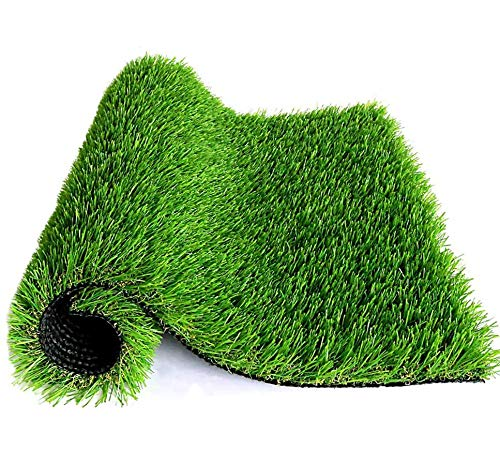 WMG Artificial Grass w/Drainage Holes & Rubber Backing 3'x5' Realistic Synthetic Artificial Turf Soft Pet Turf Fake Grass for Patio Yard Balcony Indoor/Outdoor Décor, 1 Pack…