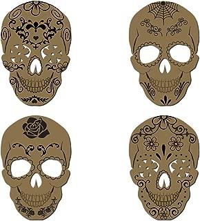Sugar Skulls - Laser Cut Chipboard - 4 Piece Set