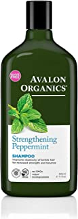 Avalon Organics Strengthening Peppermint Shampoo, 11 Ounce