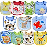 SLOSH 11 Baberos Impermeables Bebe Recien Nacido Niño Niñas Unisex