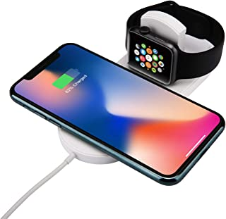 Watch Charger Phone Wireless Charger Charging Dock Station Ultra-Thin 2in1 Charging Pad Stand Dock Magnetic Charging Cable Compatible Apple Watch iPhone X iPhone 8/8Plus Samsung Galaxy Note